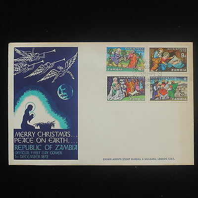 ZS-Y110 CHRISTMAS - Zambia, 1972, Fdc, Peace On Earth Cover