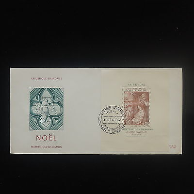 ZS-Y112 CHRISTMAS - Rwanda, 1972, Fdc, Perf. Sheet, Great Franking Cover