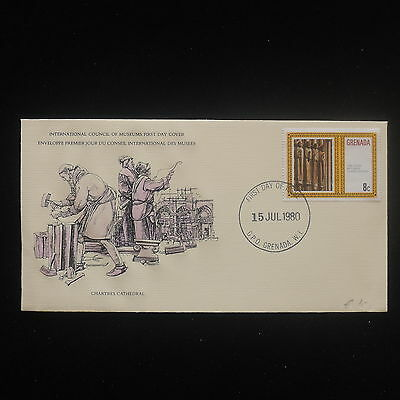 ZS-Y176 GRENADA IND - Fdc, 1980 International Council Of Museum Cover