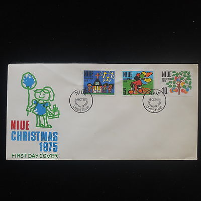 ZS-Y204 NIUE IND - Christmas, 1975, Fdc, Great Franking Cover