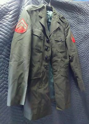 vintage military button jacket with patch