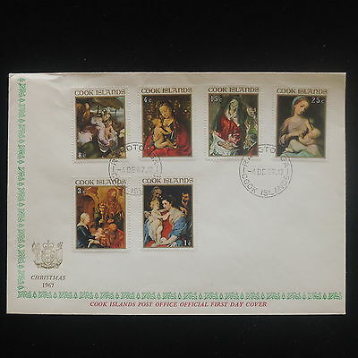 ZS-Y217 COOK ISLANDS IND - Christmas, 1967 Fdc, Religion, Great Franking Cover