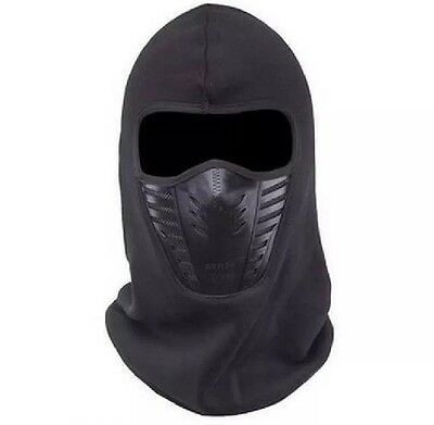 Cagoule Tour De Cou Masque Airsoft Paintball Polaire Ski Vélo Moto Balaclava Air