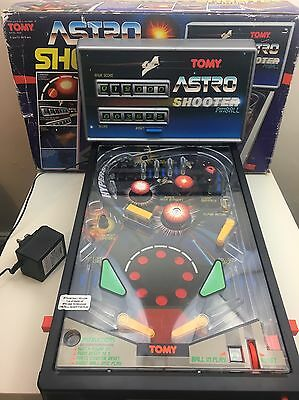 Vintage & Rare, 1985 Astro Shooter Pinball by TOMY, Boxed & Fully Working - VGC