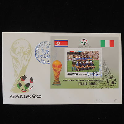 ZS-Y455 FOOTBALL - Korea, Fdc, 1990 Italy, Perf. Sheet, Great Franking Cover
