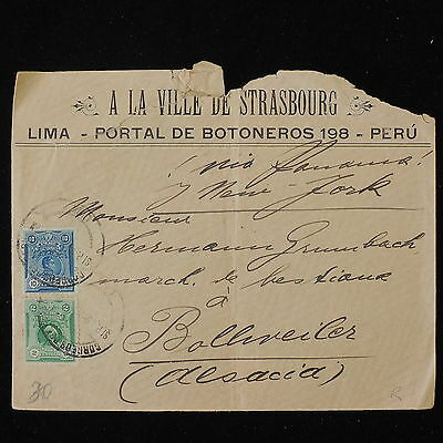 ZS-Y546 PERU - Cover, Great Franking, Lima To France