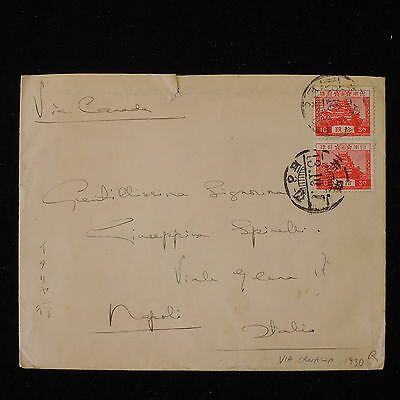 ZS-Y580 JAPAN - Cover, Great Franking To Italy, 1930, Via Canada