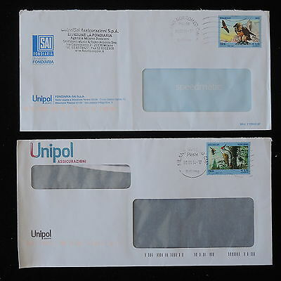 ZS-Y728 BIRDS - Italy, 2014, Unipol-Sai, Lot Of 2 Covers