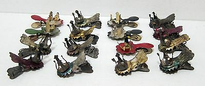 16 Antique Christmas Tree Clip-on Candle Holders - Tin