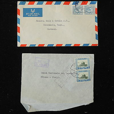 ZS-Y739 JORDAN - Airmails, Great Franking Lot Of 2 Covers
