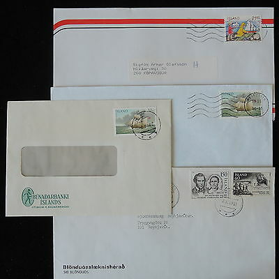 ZS-Y797 SHIPS - Iceland, 1991, Great Franking, Lot Of 4 Covers
