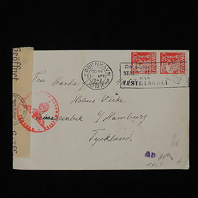 ZS-Y832 DENMARK - Censored, 1942, Great Franking To Germany Cover