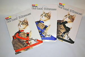 Cat Harness and lead - 3 Colours - Kitten/Walk/Run/Exercise/Play/Gift!