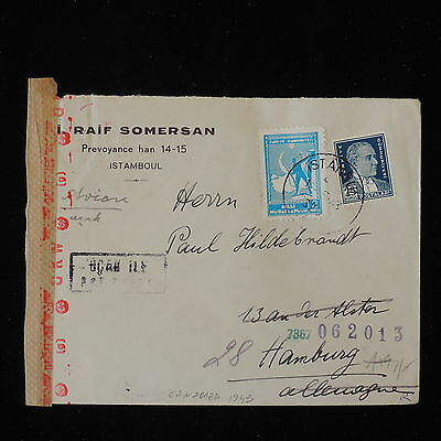 ZS-Y865 TURKEY - Censored, 1943, Great Franking To Germany Cover