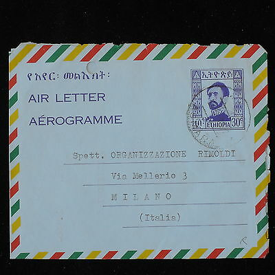 ZS-Y873 ETHIOPIA - Entire, Stationery, Airmail To Italy Cover