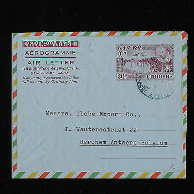 ZS-Y874 ETHIOPIA - Entire, Stationery, Airmail To Belgium Cover