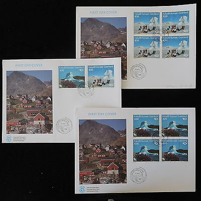 ZS-Y931 GREENLAND - Fdc, Norden, Landscape, 1991, Lot Of 3 Covers