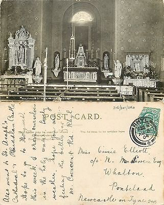 s08415 St Winefride's Church, Holywell, Flintshire, Wales postcard posted 1904