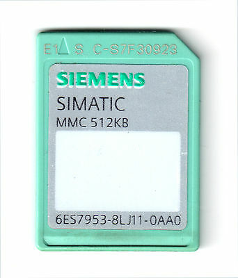 Siemens memory card for S7-300 512KB 6ES7953-8LJ11-0AA0 6ES7 953-8LJ11-0AA0