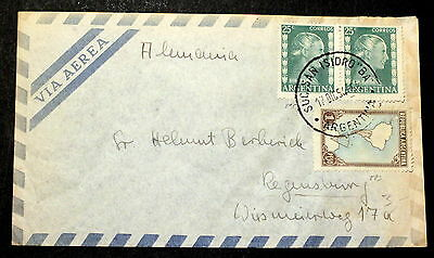 Argentina  cover to Germany J-006
