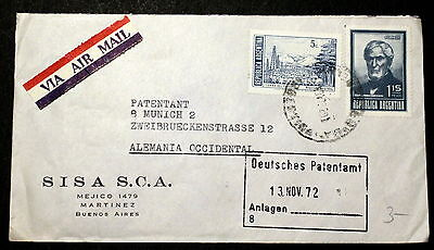 Argentina  cover to Germany J-004