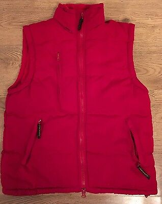 Red Quilted Body Warmer Size M