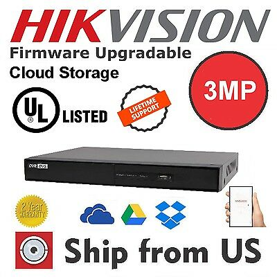 NEW 16CH 1080p 3MP 4K DVR Cloud Storage HDTVI/AHD/CVBS/IP HIKVISION OEM TA16CH