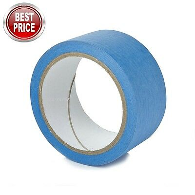 48Mmx 50M 2 Rolls Of Uuv Resistant Blue Masking Adhesive Tape Easy Peel And Tear