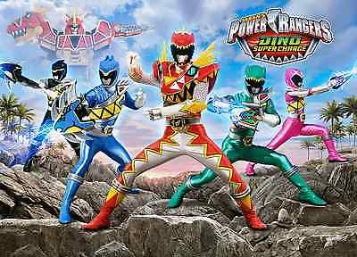 Unofficial POWER RANGERS DINO CHARGE (3) *A3* print Poster