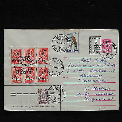 ZS-Z043 MOLDOVA - Cover, 1993, From Chisinau To Germany