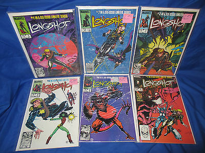 Longshot #1-6 VF/NM Complete Set Art adams - 1st Appearance Mojo & Spiral