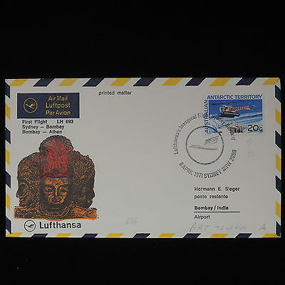 ZS-Z329 AUSTRALIAN ANTARCTIC TERRITORY - Lufthansa, 1971 Ffc To India Cover