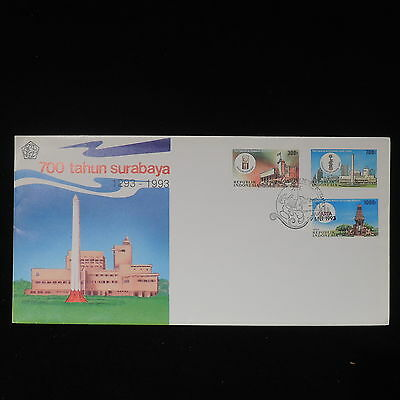 ZS-Z451 INDONESIA - Fdc, 1993, 700Th Anniv. Surabaya Cover