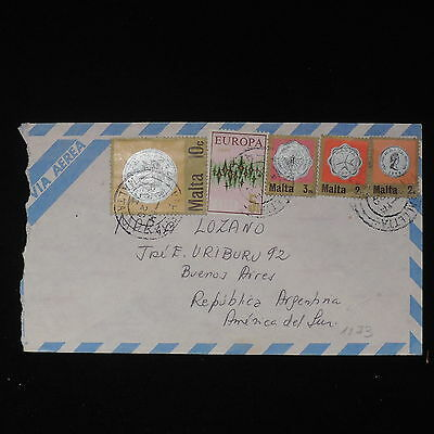ZS-Z454 MALTA IND - Airmail, 1973 To Buenos Aires Argenitina Cover