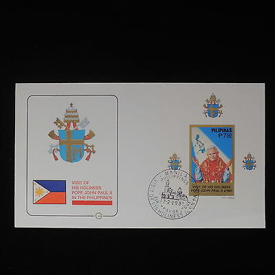 ZS-Z468 PHILIPPINES IND - Popes, 1981 John Paul Ii Visit Philippines Cover