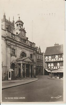 Ludlow - Shropshire- The Butter Cross -Real Photo  Postcard