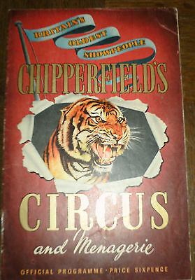 Chipperfields Circus Programme
