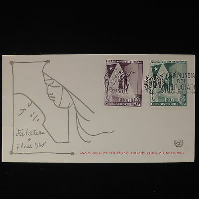ZS-Z569 CHILE - Fdc, 1960 Refugee Year Cover