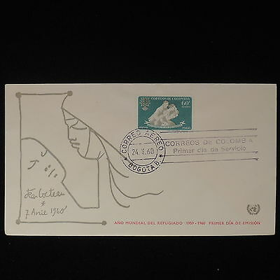 ZS-Z570 COLOMBIA - Fdc, 1960 Refugee Year Cover