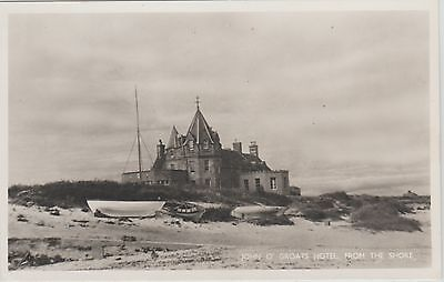 Early Postcard - John O Groats - Hotel From The Shore - Caithness - Real Photo