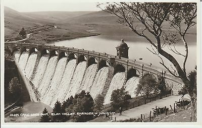Early Postcard -Rhayader- Craig Coch Dam - Elan Valley - Real Photo