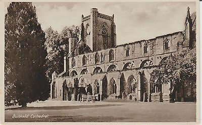 Early Postcard -Dunkeld -Cathedral - Perthshire  - Real Photo