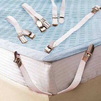 Metal Strong Elastic Band Holder Bed Sheet Fasteners Clip Grippers Mattress