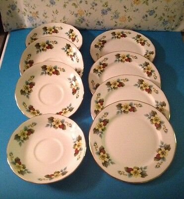 Job Lot of Gainsborough China - 4 Saucers and 4 Side Plates - J9
