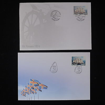 ZS-Z765 ALAND - Fdc, 2004 Ships, Flag, Lot Of 2 Covers