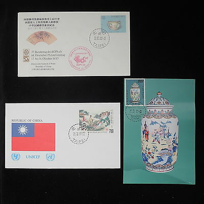 ZS-Z790 TAIWAN - Fdc, From Taipei, Lot Of 3 Covers