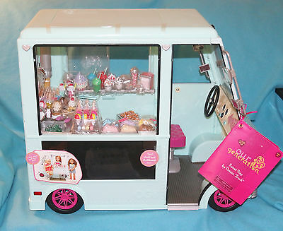 """Our Generation Blue Sweet Shop Ice Cream Truck For 18"""" Doll - Nwt"""