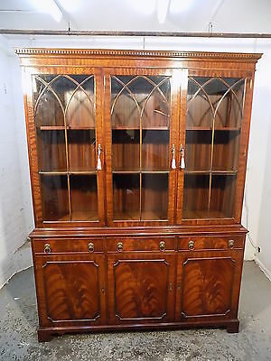 large,mahogany,cabinet,bookcase,glass doors,cupboard,shelves,drawers,home,office