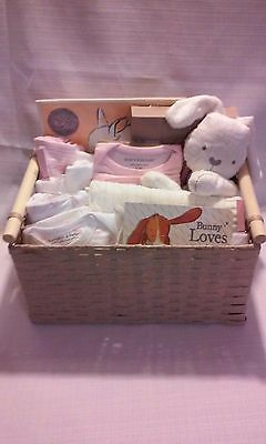 Baby Girl Gift Basket, All Natural Fibers, Earth Friendly Designer Products