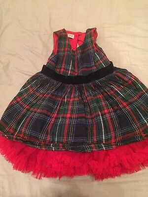 Girls/toddlers Tartan Dress From next 18-24 Months Lined With Petticoats